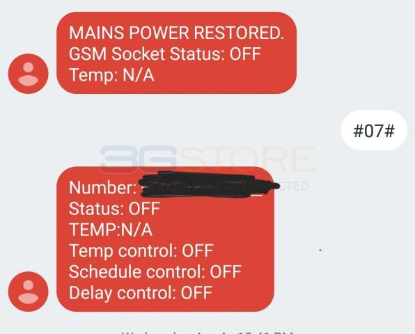 5Gstore SMS Power Switch (1 Year Service Included)