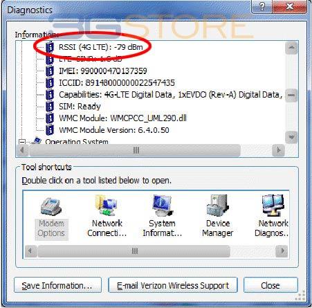Verizon RSSI Windows
