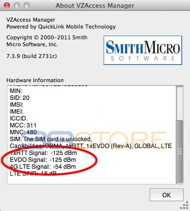 Verizon RSSI Mac